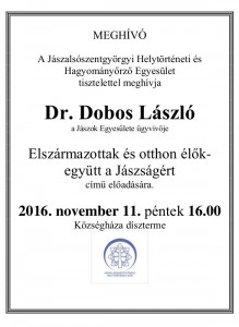 Meghívó 2016. november 11. (péntek) 16.00