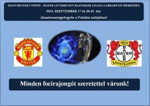 2013.09.17. Bajnokok ligája labdarúgó mérkősés közvetítése aFaluházban!